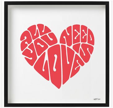 'ALL YOU NEED IS LOVE' Print 2020